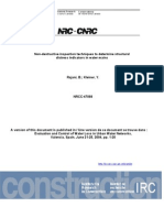 Non-Destructive Inspection Techniques to Determine Structural Nrcc47068