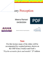 Class Auditory Perception
