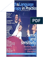 Speech & Language Therapy in Practice, Spring 2001