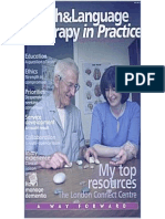 Speech & Language Therapy in Practice, Autumn 2001
