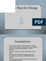 Sales Plan for Omega - Chair