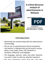 Discourse of advertising in Malaysia