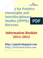 Society for Positive Philosophy and Interdisciplinary Studies (SPPIS) Haryana