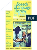 Speech & Language Therapy in Practice, Spring 2000