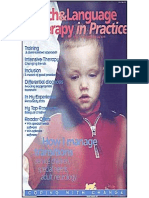 Speech & Language Therapy in Practice, Summer 2000