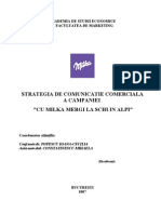 Strategia de Comunicatie Comerciala a Campaniei - Cu Milka Mergi La Schi in Alpi