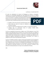 Comunicado Público Nº1 - 2013