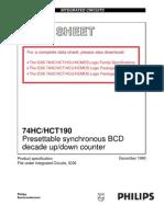 74HC190 Datasheet