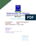 Financial Management Term Paper