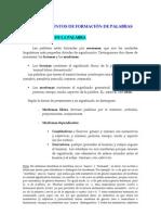 FORMACIÓN DE PALABRAS (MORFOLOGIA)
