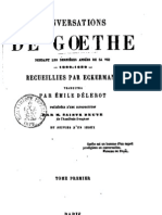 Conversations de Goethe I