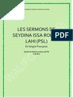 Les Sermons de Seydina Issa Rohou Lahi (PSL)