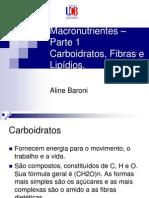 Aula Carboidratos e Lipidios