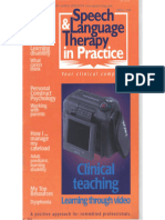 Speech & Language Therapy in Practice, Spring 1998