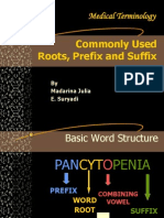 Medical Terminology2-Roots, Prefix and Sufiix 2003