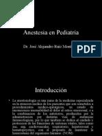 Anestesia en Pediatría