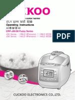 Cuckoo Rice Cooker Manual