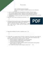 Test- Modulul Finantarea Afacerii Clasa a XII-A