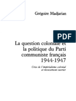 Madjarian Pcf Question Coloniale 1944-47-1977