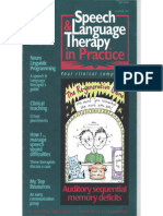 Speech & Language Therapy in Practice, Winter 1997