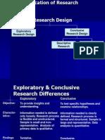 Classification Research Design