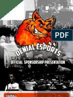 Denial Esports Sponsorship