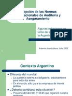 Adopcian de Las Normas Internacionales de Auditoraa St 2009