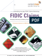 Cornerstone Seminars Fidic Claims