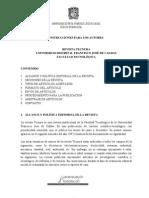Instrucciones Autores 2011 (Revista Tecnura)