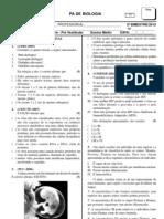 prova.pa.biologia.prevestibular Ecologia Classificação e  Embriologia.2bim