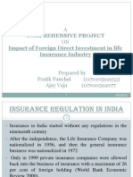 Impact of Foreign Direct Investment in Life Insurance Industry