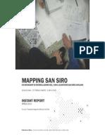 Workshop Mapping San Siro Report, 2013