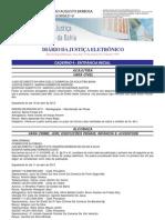 Diário da Justiça do Tribunal de Justiça da Bahia de 19.04.2013