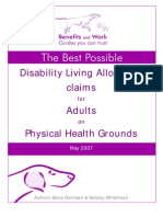 Disability Living Allowance Benefits and Work Guide