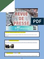 Revue de Presse Mars 2013
