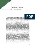 1. Elementos y Esencias, g.e.m. Anscombe