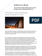 A questão hidrelétrica no Brasil R1
