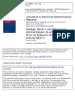 Ideology, Identity, And Intercultural Communicationpdf
