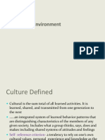 Supplement - Ch 3&5 (Cultural and Political Environments)
