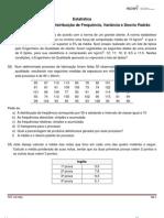 25 - exercícios Estatistica