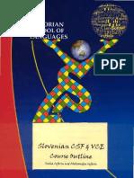 8.9. Slovenian CSF & VCE Course Outline 2003