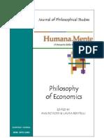 Humana_Mente 10 Philosophy of Economics