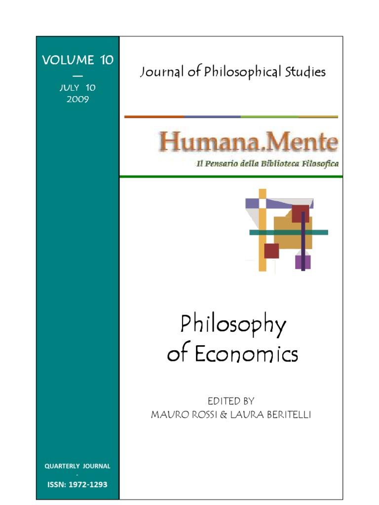 Studio Parisi E Associati Milano humana_mente 10 philosophy of economics