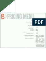 Freelance Pricing Menu