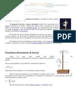 GUÍA    Momento de inercia rotacional (ecuaciones, deducciones)