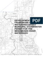 Mr 204 Framework for Development of a Watershed-Based Municipal Stormwater Permit Menomonee River Watershed