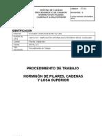 PT Hormigón Pilares, Cadenas y Losa