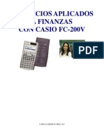 Book Applied Exercises to Finances With Casio FC200 Prof. Samuel Telias in Spanish 1