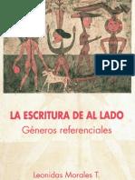 La escritura de al lado, género, referenciales - Leonidas Morales