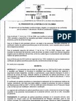 Decreto 738 de 2013 Pruebas Psicofísicas